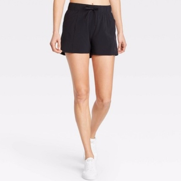 """all in motion Pants - All in Motion Stretch Woven Shorts 4"""" Black"""